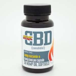 CBD Soft Gels with CURCUMIN-CBD-OIL